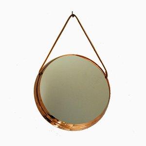 Specchio decorativo rotondo vintage, anni '60