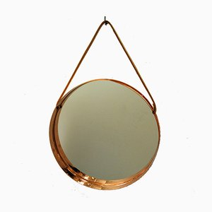 Vintage Round Decorative Mirror, 1960s
