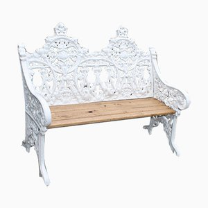 Cast Iron Two Seat Garden Bench, 1860s