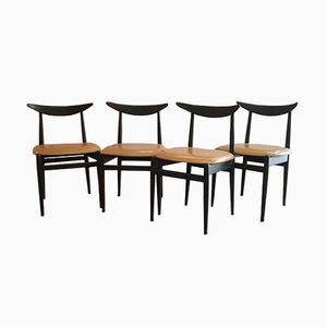 Scandinavian Dining Chairs, 1960s, Set of 4