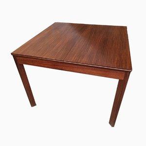 Mesa de comedor extensible de palisandro, años 60