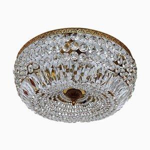 Lámparas de araña de salón de baile de cristal de Murano, años 50. Juego de 2
