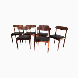 Danish Teak Chairs by Johannes Andersen for Samcon, 1960s, Set of 6