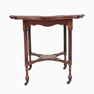 Tavolo da merceria in palissandro intarsiato, fine XIX secolo