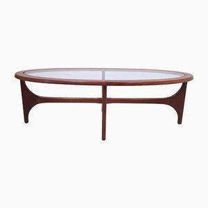 Table Basse Ovale Vintage en Teck par Stateroom pour Stonehill