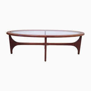 Vintage Teak Oval Coffee Table by Stateroom for Stonehill