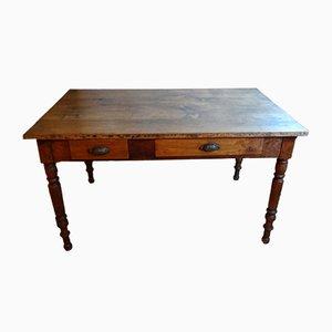 Französischer Tisch aus Nussholz, 1940er