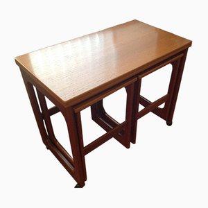 Vintage Tisch & 2 Hocker von McIntosh