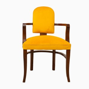 French Art Deco Acacia Armchair, 1930s