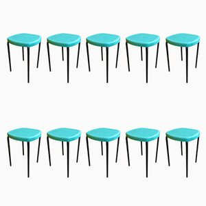 Vintage Stools, Set of 10