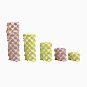 Pink & Yellow Ø Wave Set by Mari JJ Design