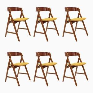 Modell 71 Esszimmerstühle aus Teak von Henning Kjærnulf, 1960er, 6er Set