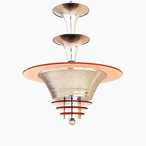 Art Deco French Ceiling Lamp, 1930s