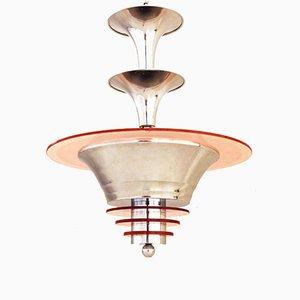 Französische Art Deco Deckenlampe, 1930er
