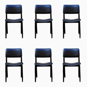 Vintage N6 Chairs by Eugenio Gerli for Tecno, 1950s, Set of 6