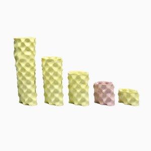 Gelbes und rosafarbenes Ø Wave Set von Mari JJ Design