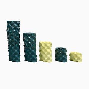 Dunkelgrünes und gelbes Ø Wave Set von Mari JJ Design