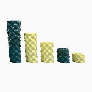 Dark Green & Yellow Ø Wave Set by Mari JJ Design