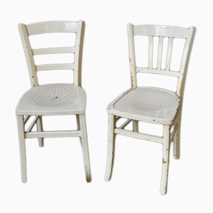 Vintage French Bistro Chairs, 1940s, Set of 2