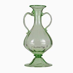 Vase aus geblasenem Glas in Flaschen-Optik, 19. Jh.