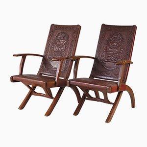 Chaises Pliantes Mid-Century par Angel I. Pazmino pour Muebles de Estilo, 1960s, Set de 2