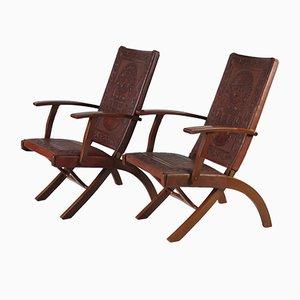Mid-Century Folding Chairs by Angel I. Pazmino for Muebles de Estilo, 1960s, Set of 2