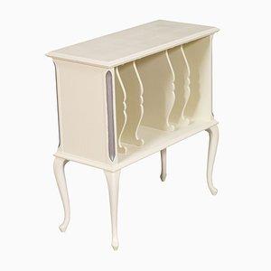 Italian Art Nouveau Painted Walnut Magazine or Record Cabinet