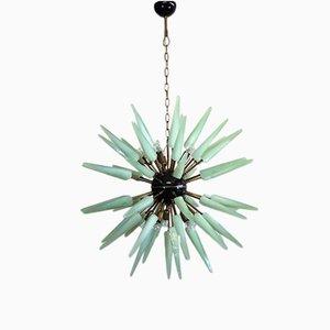 Lámpara de araña Sputnik italiana de cristal de Murano, 1983