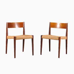 Chaises de Salle à Manger PIA par Poul Cadovius pour Girsberger, 1960s, Set de 2