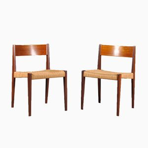 PIA Dining Chairs by Poul Cadovius for Girsberger, 1960s, Set of 2