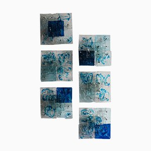 Patchwork Wandleuchten von Toni Zuccheri für Venini, 1970er, 6er Set