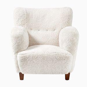 Dänischer Sessel aus Schafsfell, 1930er