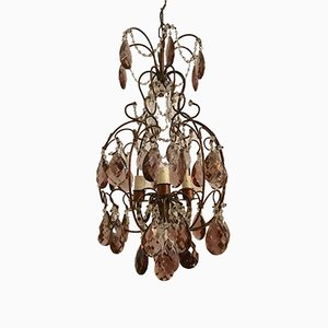Vintage Macaroni Beaded Crystal Chandelier