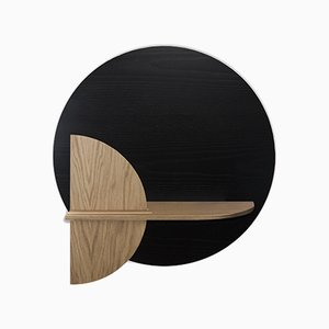 Alba M Circle Wall Shelf with Hidden Storage by Daniel García Sánchez for WOODENDOT
