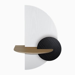 Alba L Semi Circle Bedside Table by Daniel García Sánchez for WOODENDOT