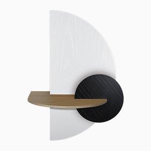 Table de Chevet Alba L Semi-Circulaire par Daniel García Sánchez pour WOODENDOT