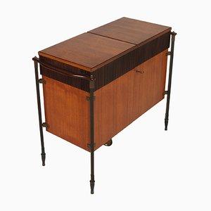 Mueble bar plegable de teca de Franco Albini para La Permanente Mobili Cantù, años 60