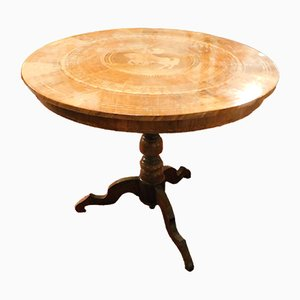 18th Century Antique Table with Inlaid Wood