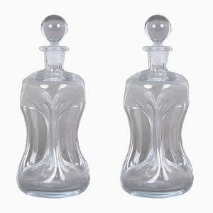 Glass Decanters by Per Lütken for Holmegaard, 1970s, Set of 2