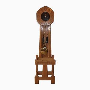 Orologio da terra vintage in quercia di Guillerme et Chambron per Votre Maison