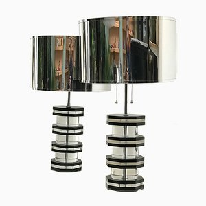 Mid-Century Plexiglas Lamps, 1960s, Set of 2