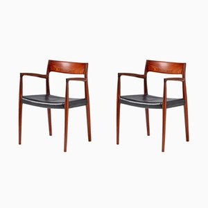 Model 57 Rosewood Armchairs by Niels O. Møller for J.L. Møllers, 1959, Set of 2