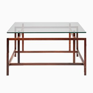 Rosewood & Glass Coffee Table by Henning Norgaard for Komfort, 1960s