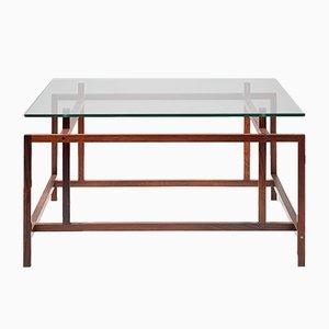 Table Basse en Palissandre & en Verre par Henning Norgaard pour Komfort, 1960s