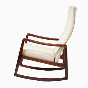 Mid-Century FD-160 Rosewood Rocking Chair by Ole Wanscher for France & Søn