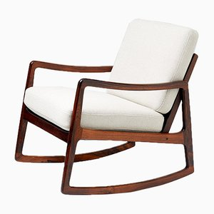 Mid-Century FD-120 Rosewood Rocking Chair by Ole Wanscher for France & Søn, 1960s