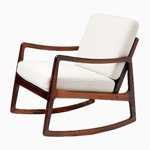Rocking Chair FD-120 Mid-Century en Palissandre par Ole Wanscher pour France & Søn, 1960s