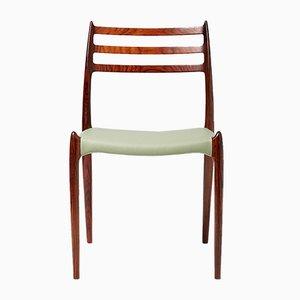 Vintage Modell 78 Esszimmerstühle aus Palisander von Niels Møller für J.L. Møllers, 8er Set