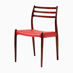 Modell 78 Esszimmerstühle aus Palisander von Niels O. Moller für J.L. Mollers, 1960er, 8er Set