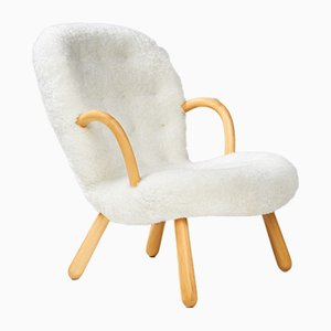 Sedie in pelle di pecora di Philip Arctander per Vik & Blindheim, anni '50, set di 2